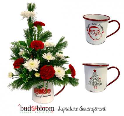 Holiday Mug Bud & Bloom Signature Arrangement