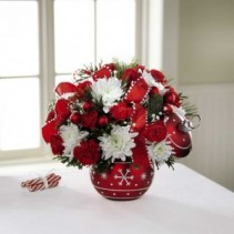 Holiday Ornament Flowers