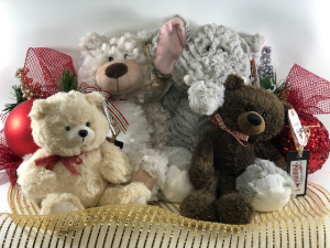 Holiday Plush  Stuffed Animals (Add-on) in North Bend, OR | PETAL TO THE METAL FLOWERS