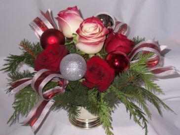 "PRETTY RIBBONS - ""Christmas Flowers"" Flowers in Prince George BC, Christmas Flowers Arrangements in Prince George"