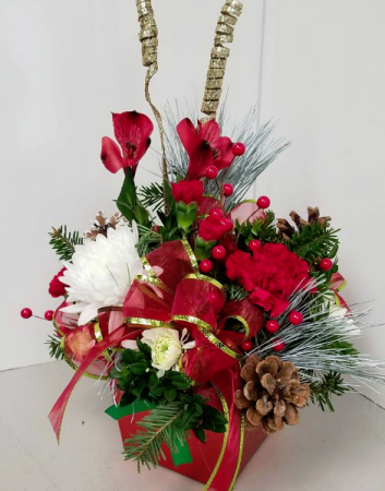 Holiday Rock Fresh Arrangement