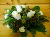 Holiday Rose and Hypericum Centerpiece
