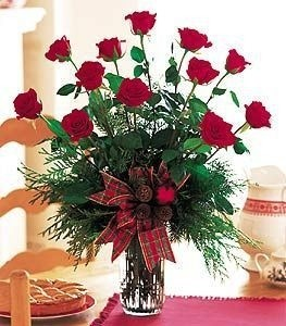 12   Ravishing Red Roses      vased in Fort Smith, AR | Floral Boutique