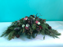 Holiday rustic centerpiece  Holiday
