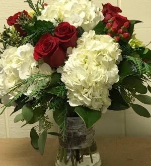 Holiday Seabreeze Vase Arrangement in Fairfield, CT | Blossoms at Dailey's Flower Shop
