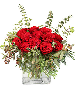 Holiday Sensation Bouquet in Chicago, IL | THE GOLDEN ROSE FLORIST