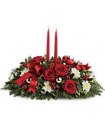 Holiday Shimmer Centerpiece Christmas arrangement