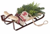 Holiday Sled Swag Arrangement