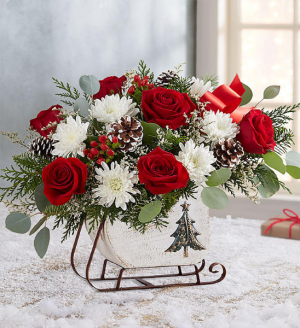 HOLIDAY SLEIGH  in Seagoville, TX | WHITE'S FLORIST