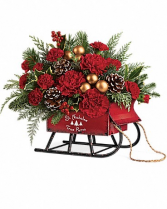 St. Nicholas Vintage Sleigh Bouquet By Enchanted Florist