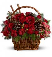 Holiday Spice Basket Arrangement