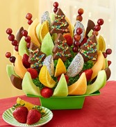 Holiday Spirit Fruit Bouquet Fresh Fruit arrangement