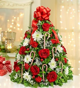 Holiday Table Top Boxwood Tree