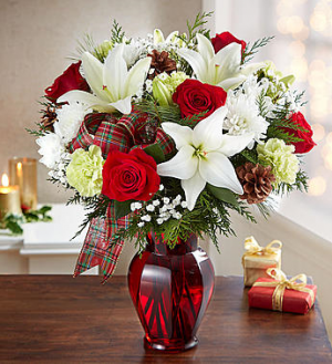 Holiday Tidings Bouquet 161260 in Conyers, GA | GLORIA'S FLORIST LLC