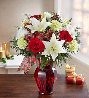 Holiday Tidings Seasonal Arrangement in Gladewater, TX | GLADEWATER FLOWERS & MORE