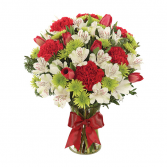 Holiday Time  Holiday Vase Arrangement