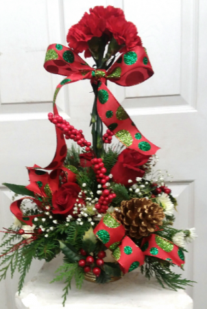 Holiday Topiary Winter Arrangement