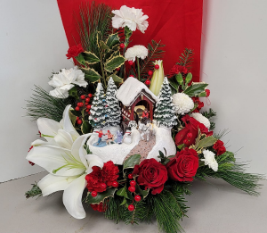 Holiday Traditions Fresh arrangment in Fulton, NY | DeVine Designs By Gail