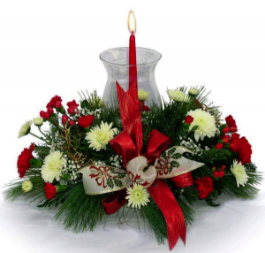 Holiday Traditions Fresh Centerpiece in Fulton, NY | DeVine Designs By Gail