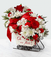 HOLIDAY TRADITIONS SLEIGH SLEIGH CENTERPIECE