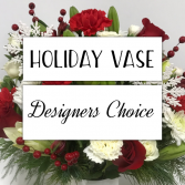 Holiday Vase Arrangement Designer's Choice