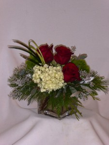 """Winter Frosted Roses """"Florists Prince George BC"""""""