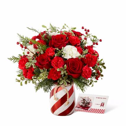 Holiday Wishes holiday vase arrangement