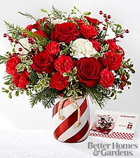 Holiday Wishes Vase in Macon, GA | PETALS, FLOWERS & MORE