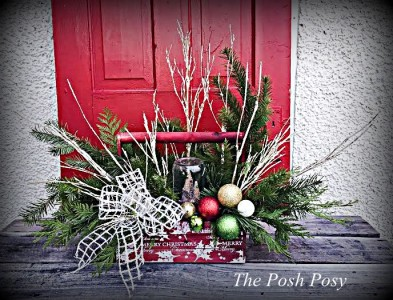 Holiday Wooden Planter Winter Holiday