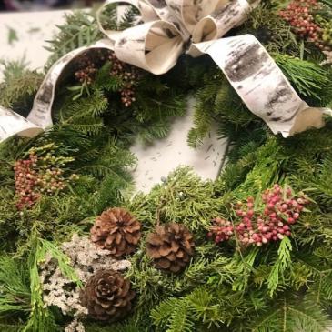 Holiday Wreath Class Workshop