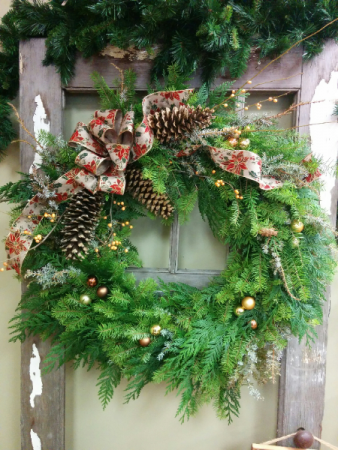 Holiday wreath Customizable