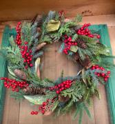 Holiday Wreath  Seasonal Artificial Wreath
