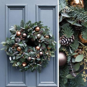 Holiday Wreath Workshop   November 27th 2019  Wednesday  6:30pm - 8pm   In our Studio  427 Speer's Road #19