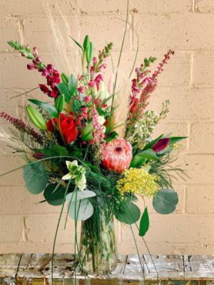 Hollie's Designers Choice - Moody Edge  Fresh Flower Arrangement  in Dixon, IL   WEEDS FLORALS, DESIGN & DECOR