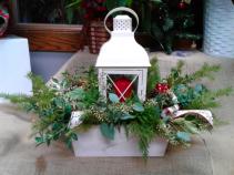 Holly and Light Fresh Lantern Box