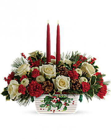Holly Centerpiece Fresh Flowers