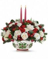 Holly Days Bouquet Beautiful Keepsake Caserol Bowl