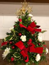 Holly Jolly Boxwood Tree Christmas