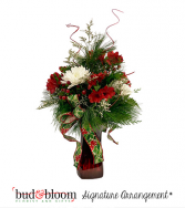 Holly Jolly Bud & Bloom Signature Arrangement