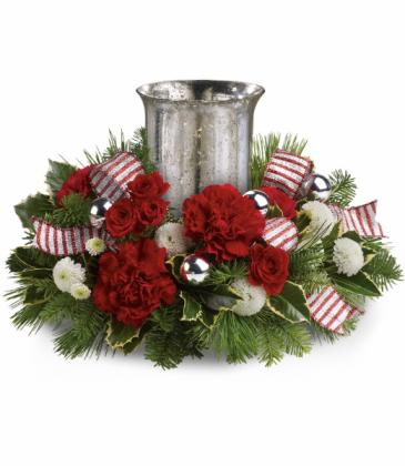 Holly Jolly Centerpiece All-Around Floral Arrangement