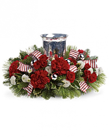 Holly Jolly Centerpiece Arrangement