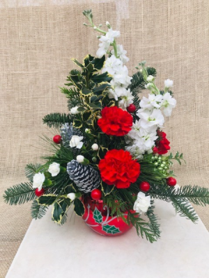 Holly Jolly Fresh Arrangement in Coleman, WI | COLEMAN FLORAL & GREENHOUSES