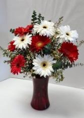 Holly Jolly Gerberas Floral Arrangement