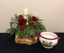 Holly Jolly Holiday Keepsake Centerpiece