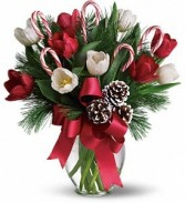 Holly Jolly Tulips Holiday Bouquet