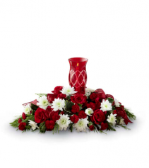 Seasons Blessings Fresh Holiday Centerpiece