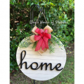 Home Door Hanger, Red Bow Mother's Day