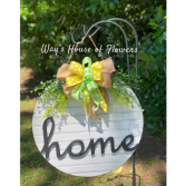 Home Door Hanger, Yellow and Green Bow Mother's Day