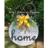 Home Door Hanger, Yellow Bow Mother's Day