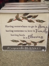 Home, Family, Blessing Keepsake Blanket